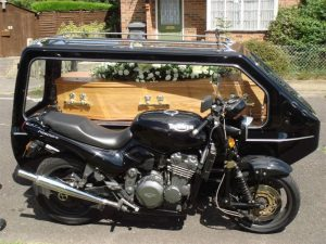 Black Motor Cycle Hearse