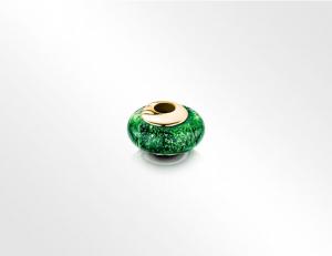 Charm Bead Green-Gold