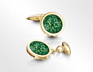 Cufflinks Gold-Green