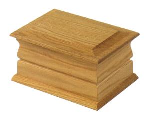 Solid Oak Casket