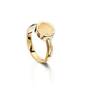 Clear Gold Tribute Ring