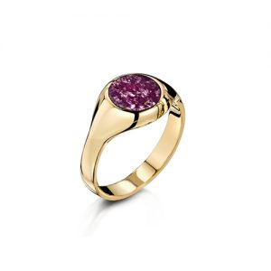 Purple Gold Signet Ring